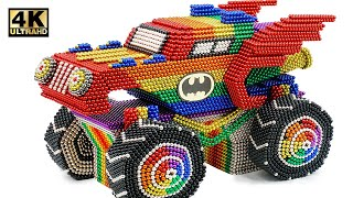 Most Creative - Make Coolest Batmobile Car From Magnetic Balls (Satisfying) | Magnet World Series
