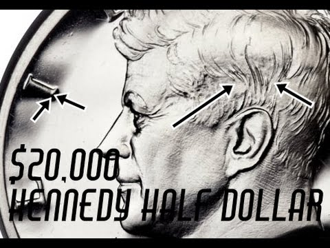 Searching For Valuable 1964 Kennedy Half Dollar Accented Hair Varieties - Example Sold For $20,000!