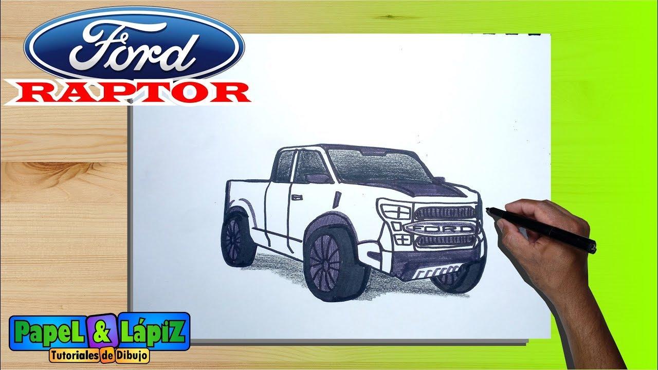 Cómo Dibujar Una Camioneta Ford Raptor Paso A Paso
