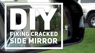 Sugru Fixes Side Mirror Crack (2006 Infiniti M35x)