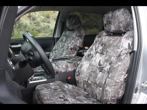 Toyota Tundra Seat Covers >> Kryptek Raid Seat Covers 2017 Toyota Tundra Youtube