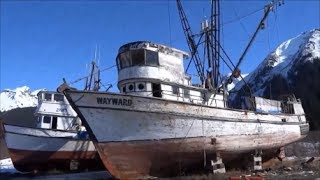 Old Fishing Boats In Dry Dock
