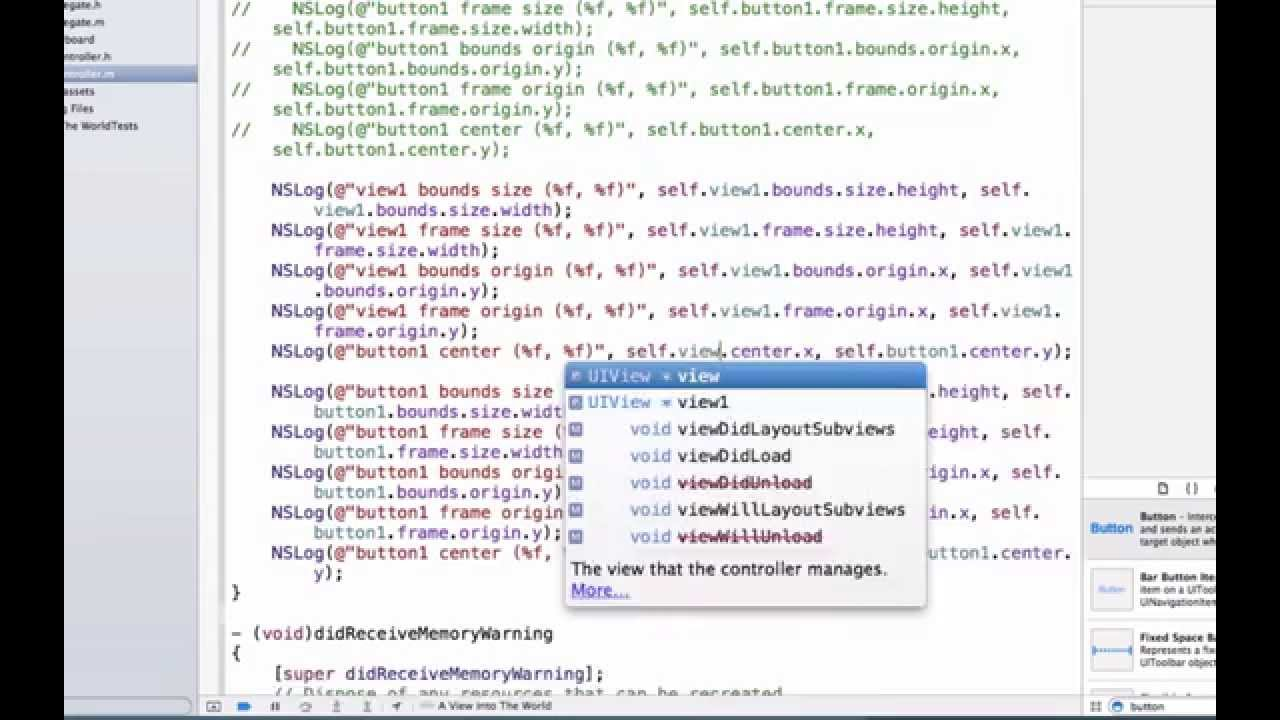 iOS Programming Video Tutorials - Deeper Look into View, Frame ...