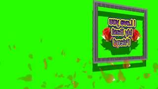 Happy Friendship Day Green Screen Effects - Happy Friendship Day speciel 3D Animated Video No 60