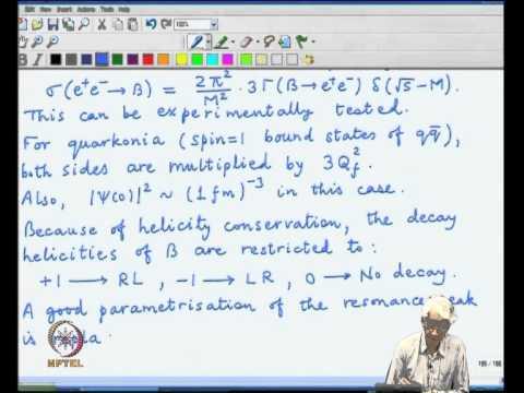 Mod-03 Lec-41 Bound state decay, Non-relativistic potentials