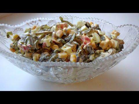 Быстрый салат с креветками кулинарный рецепт
