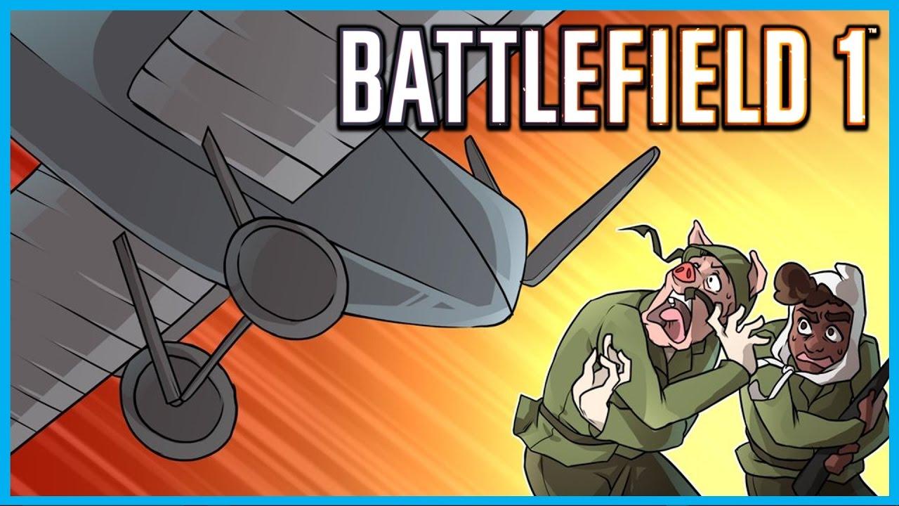 Battlefield 1 Humorous Moments!   Syringe Kills, Melee Fail Rage, Twister Aircraft of Demise, Kolibri!
