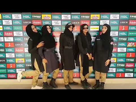 'Hun Maujan E Maujan' Women Police on PSL FINAL duty