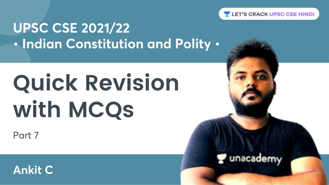Quick Revision with MCQs   Part 20   Indian Constitution and Polity ...
