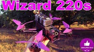 ✔ Квадрокоптер Eachine Wizard X220S -  Полетный Тест в Стоке! Осень 2017! Banggood