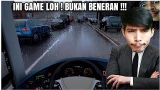 GILA ! HUJANNNYA REAL BANGET ! UDAH KAYA ASLI !!! / Fernbus Coach Simulator Indonesia screenshot 4