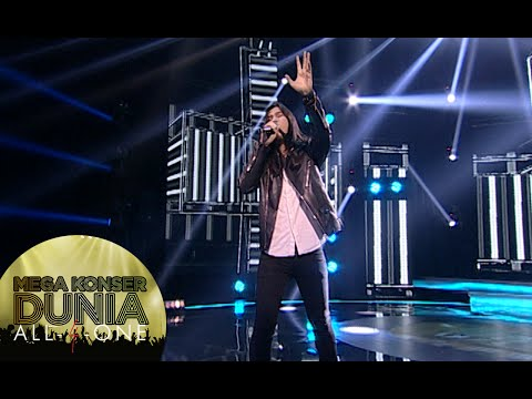 Rock abis Virzha dengan lagu 'Don't Look Back In Anger Mega [Konser Dunia] [14 Des 2015]