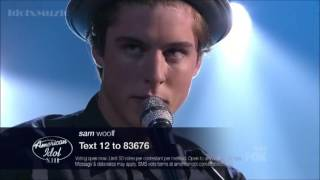 Sam Woolf performs Just One - American Idol 13 Top 12