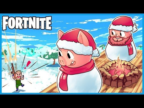 WINNING *ONLY* USING SNOWMEN in Fortnite: Battle Royale! (Fortnite Funny Challenge w/ LEGIQN Part 1)