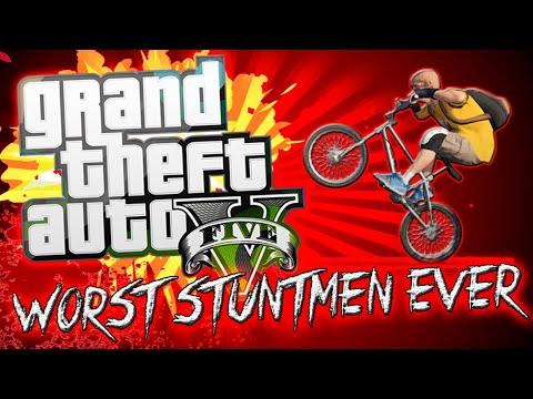 GTA 5 - Worst Stuntmen Ever #4 (Stunt Planes and Ridiculous Failures)