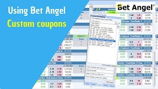 Bet Angel - Betfair trading software - Review of coupon feature