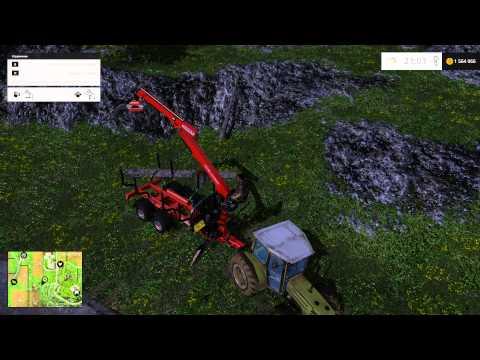 Как пользоваться погрузчиком бревен в Farming Simulator 2015 (Фермер Симулятор)