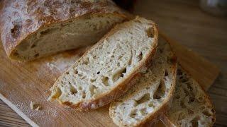 Чиабатта без замеса теста | Домашний хлеб в духовке | Простые рецепты