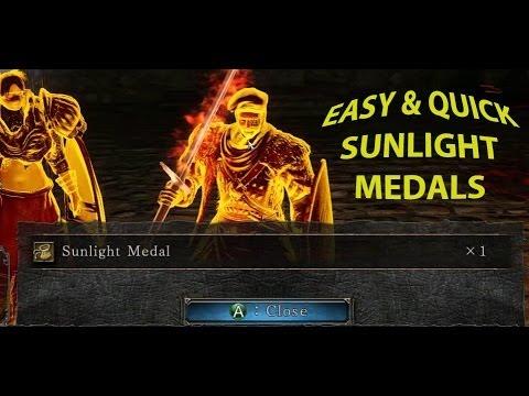 Dark Souls 2: Easy & quick sunlight medal farming.