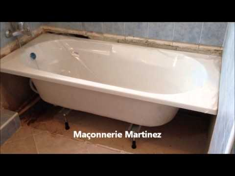 montage pose d 39 une baignoire ma onnerie martinez youtube. Black Bedroom Furniture Sets. Home Design Ideas