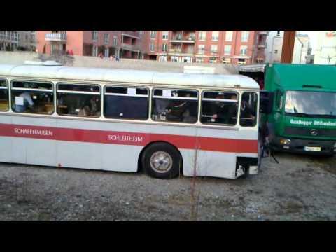 Dancing bus - Gottmadingen Carnival in Germany 2012