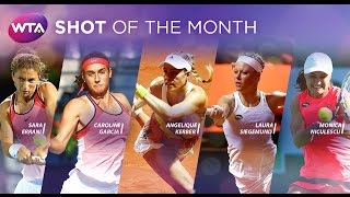 2016 WTA Shot of the Month Finalists   April