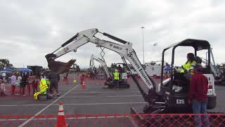 Video still for Equipment Demo-- Construction vs. Cancer, April 28, Anaheim, Calif.