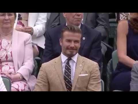 Beckham among sporting legends in Royal Box - Wimbledon 2014