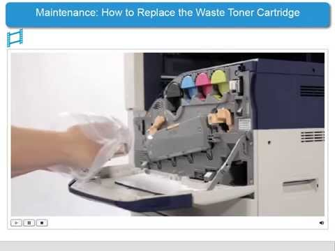 How To Replace the Waste Toner Cartridge - ApeosPort-V & DocuCentre-V Products - English