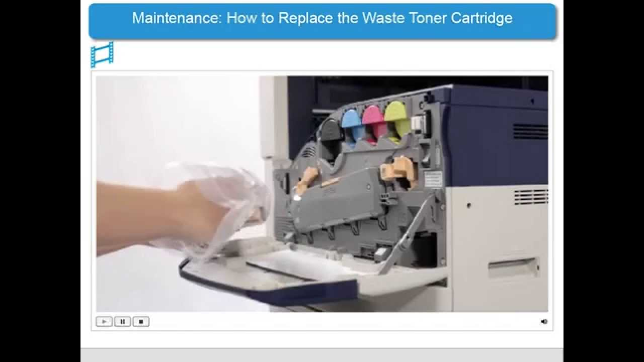 How To Replace The Waste Toner Cartridge Apeosport V