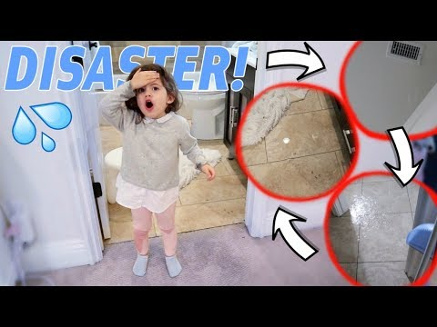 TODDLER FLOODS THE ENTIRE HOUSE!!! (huge disaster)