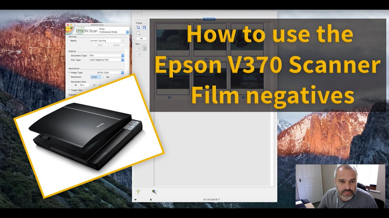 Scanning film negatives using the Epson V370 Scanner and Software Tutorial