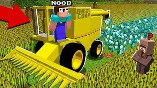 DIAMOND FARM! SUPER COMBINE! IN MINECRAFT : NOOB vs PRO