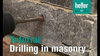 Tutorial: How to drill expertly in masonry #hellertv #Trijet #hammerdrillbit