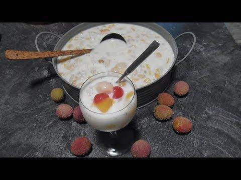 Tropische vruchtenbowl (dessert)