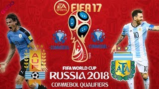 FIFA 17 | Uruguay vs Argentina | FIFA World Cup CONMEBOL Qualifiers 2018 | PS4 Full Gameplay
