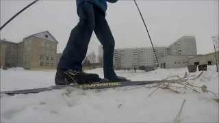 Л-Лыжники или Как проходит урок физкультуры в 11классе.(GoPro3+se)