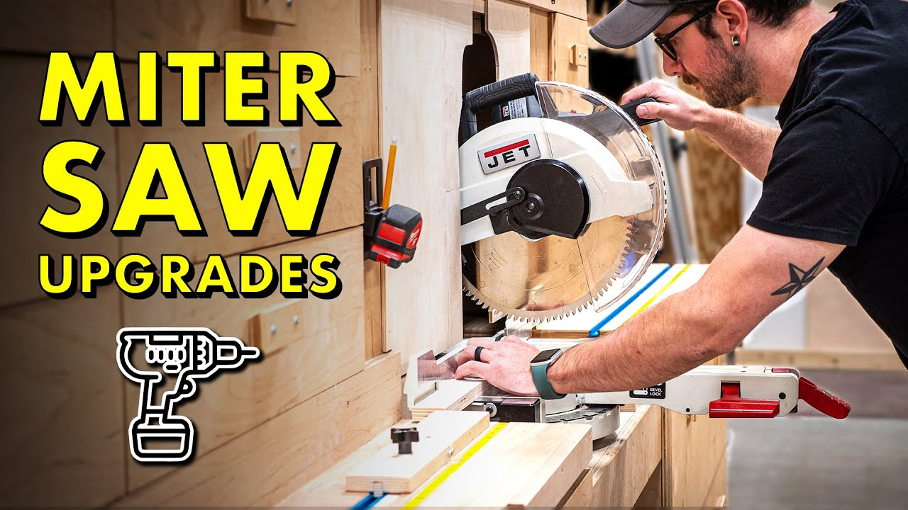 3 BIG Miter Saw Station Upgrades! Stop Block, Dust Collection & Zero Clearance