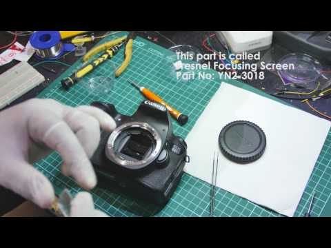 How to clean the view finder / remove dust inside finder Canon 60D (DSLR)