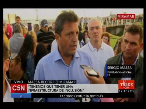 C5N - Sociedad: Sergio Massa recorrió Miramar