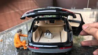 Diecast Unboxing-2010 Audi Q7 Facelift 4.2 Quattro 1/18 Audi Lifestyle By Kyosho