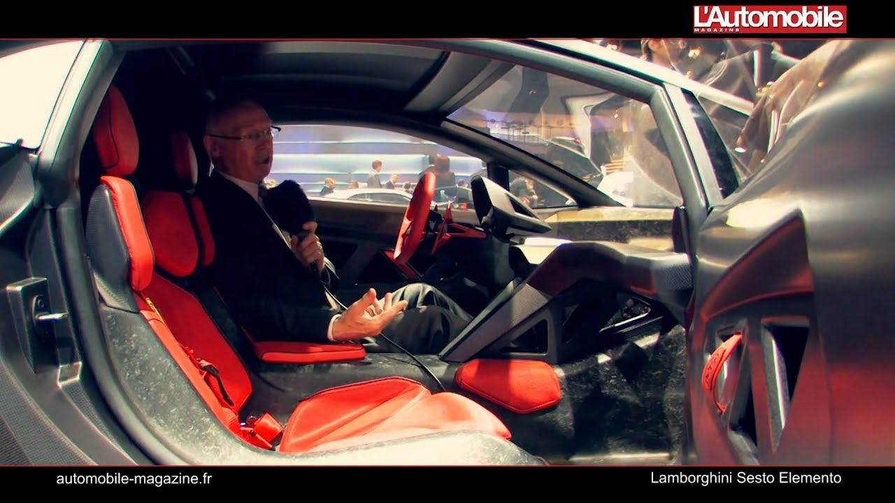 Lamborghini Sesto Elemento Youtube