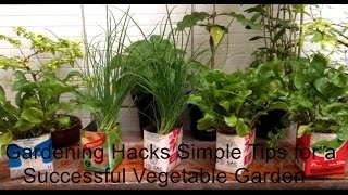 Gardening Hacks - Simple Tips for a Successful Vegetable Garden 01