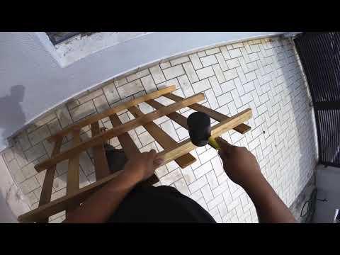 DIY Bushcraft folding bow saw using wood pallet