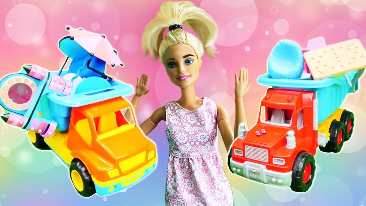 ¡La mudanza a una casa nueva de Barbie! Los muebles de Barbie. Vídeos para niñas