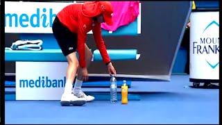 Ball Boy Fixes BOTTLES For Rafael Nadal