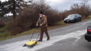 Using my Karcher S 650 to gather rock dust