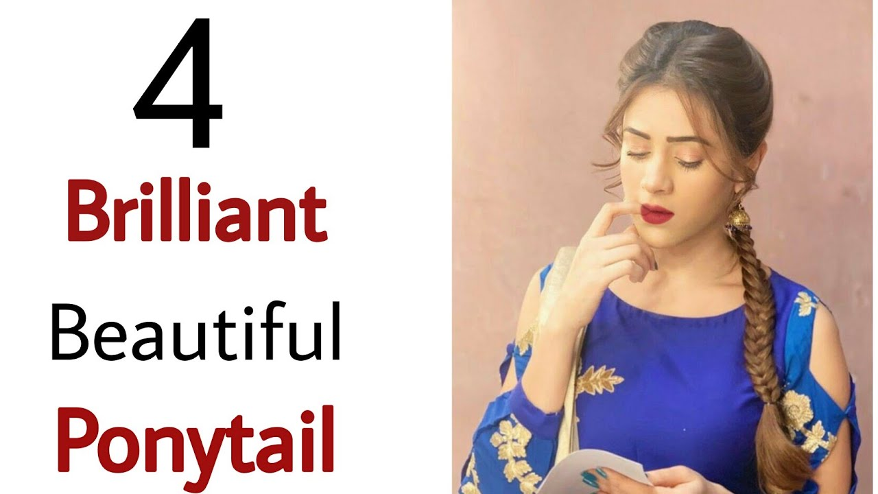 5 different type of ponytail hairstyle - beautiful pony hairstyle| ponytail hairstyle | hairstyle