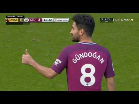 Ilkay Gundogan vs Watford (Away) 16/9/2017 HD 720p