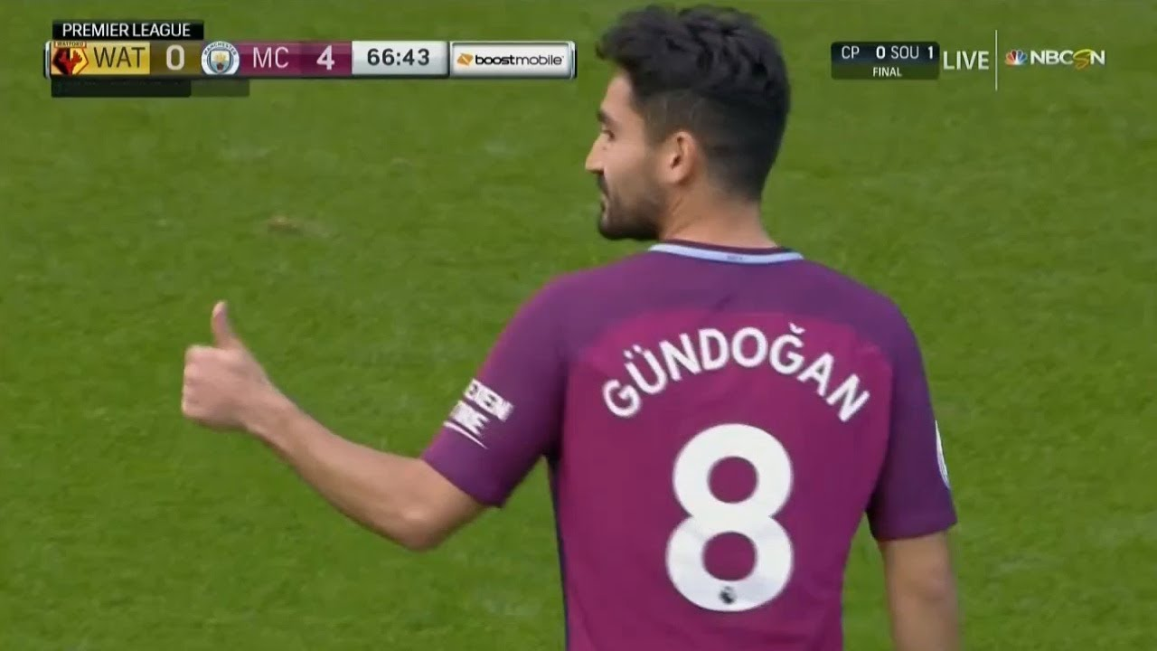 Ilkay Gundogan vs Watford Away 16 9 2017 HD 720p